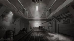 Rainbow Factory Hallway Concept by ABluSkittle