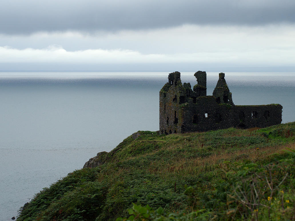 Dunskey Castle - Irish Sea by WestLothian
