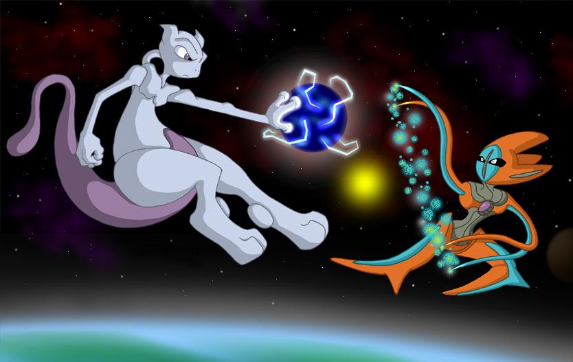 Mewtwo vs Deoxys by Duckboy on DeviantArt