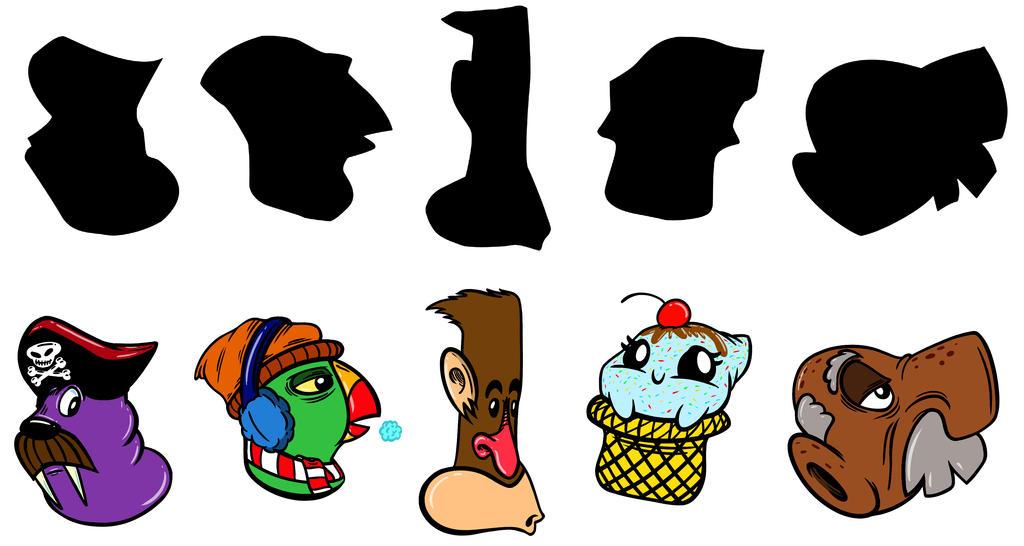 Character Design Shape Challenge : Design a character shape challenge december by duckboy
