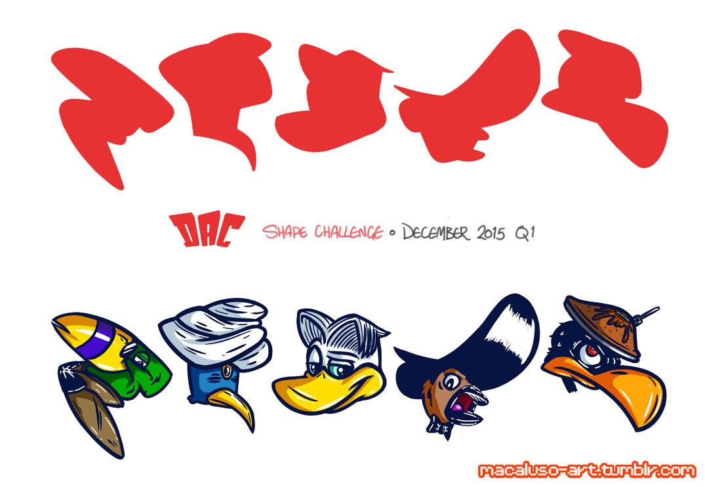 Character Design Shape Challenge : Design a character shape challenge december by