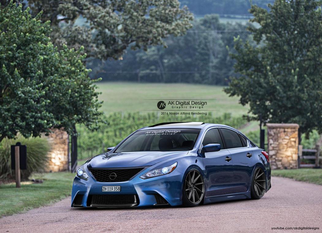 2016 Altima Slammed >> 2016 Nissan Altima Rendering by akdigitaldesigns on DeviantArt