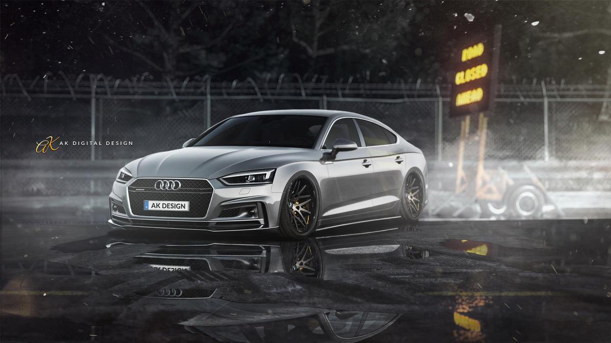 Audi A5 Sportback Rendering by akdigitaldesigns