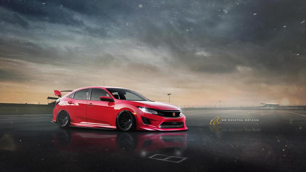 2017 Honda Civic Hatchback Rendering by akdigitaldesigns