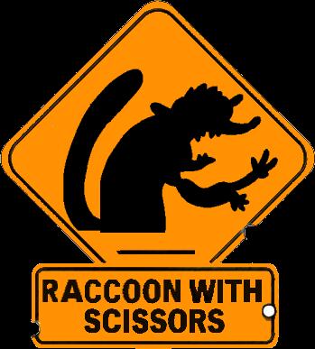 Raccoon With Scissors by PanzerKnacker73