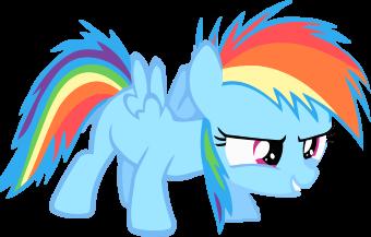 Rainbow Dash filly Vector Render by PanzerKnacker73 on ...