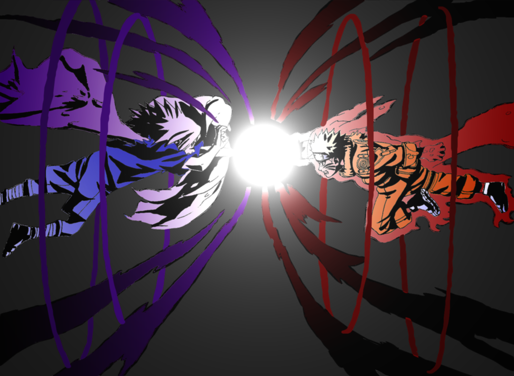 Misiones de Kushina Uchiha - Página 3 Naruto_vs_Sasuke_by_melisssaa