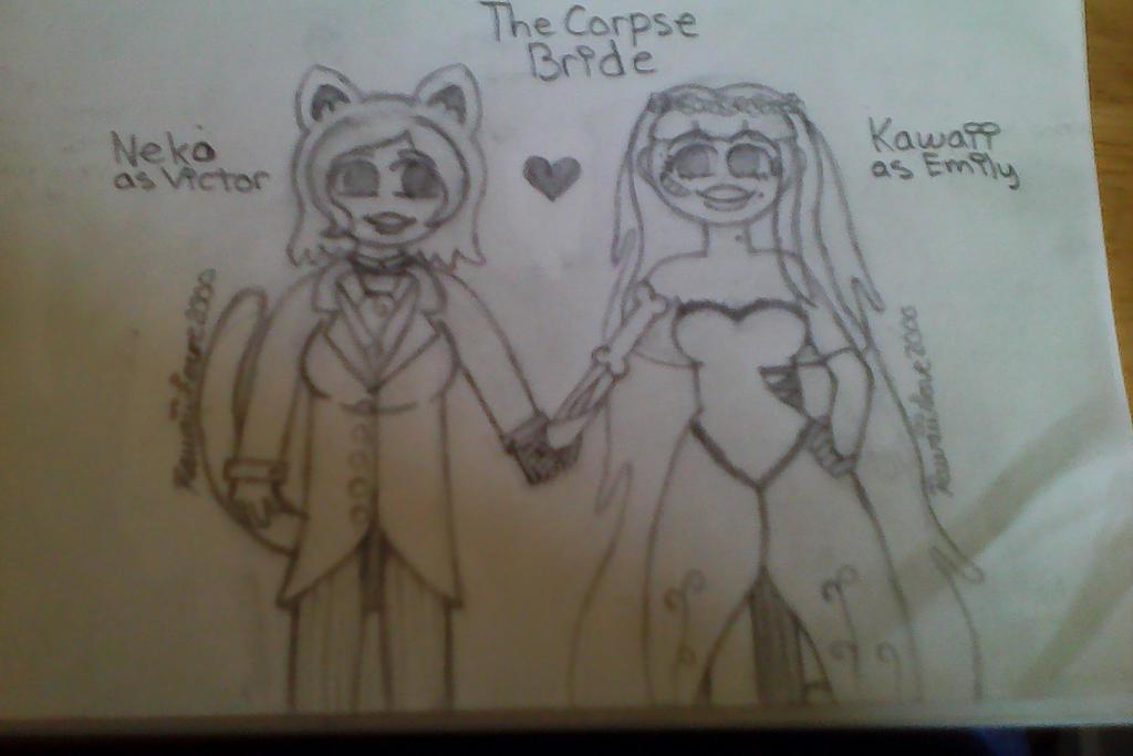 The Corpse Bride with Neko and Kawaii by KawaiiLove2000