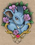 Pokemon - His Queen - Nidoqueen - Colored
