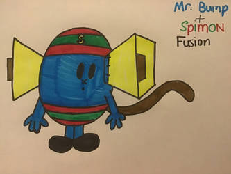 TMMS-MHS: Mr. Bump/Spimon Fusion by TigeressBird324