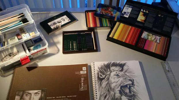 some my art supplies