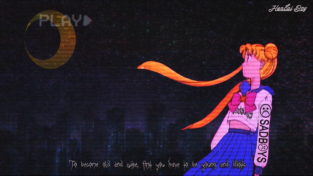 Anime Aesthetic Wallpaper By Verzide On Deviantart