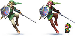 Smash bros wii u A link to the past recolor