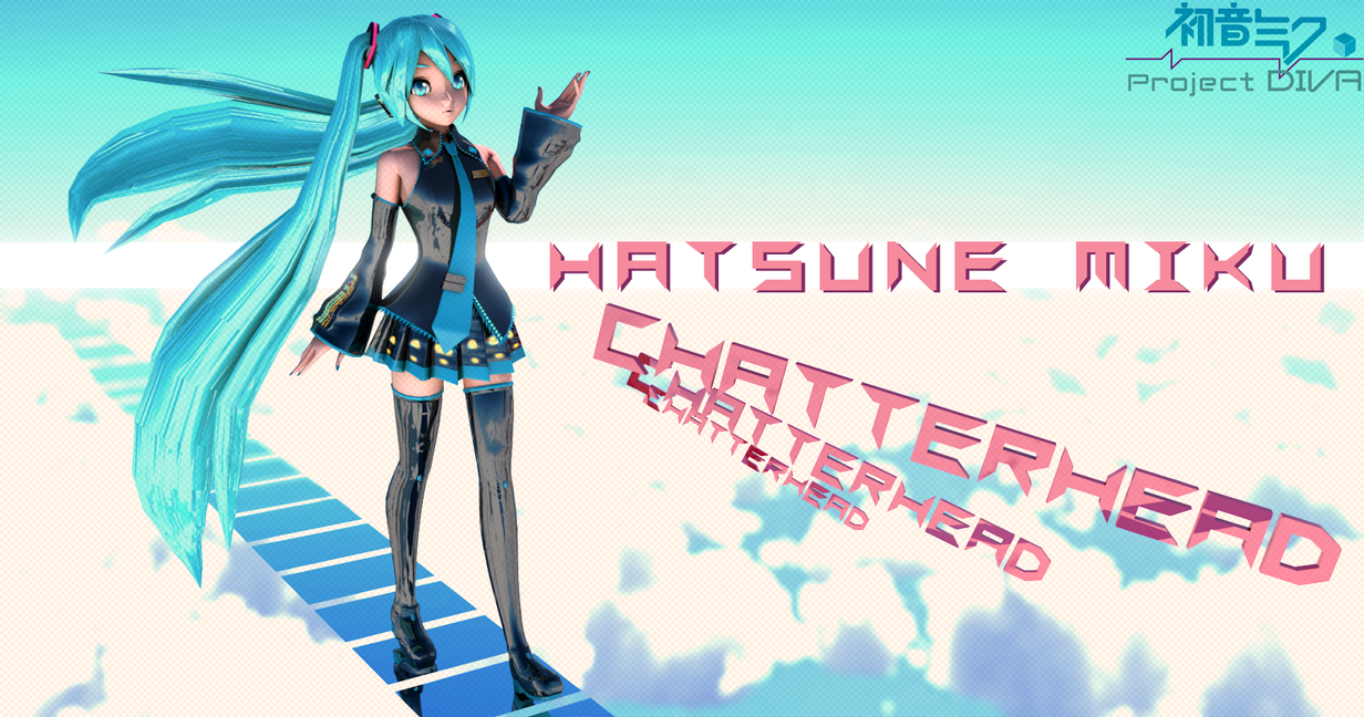 Hatsune Miku second render by chatterHEAD