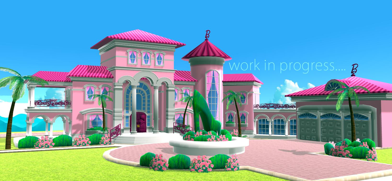 Barbie dream house wip 2 by chatterhead on deviantart for Dream house 3d