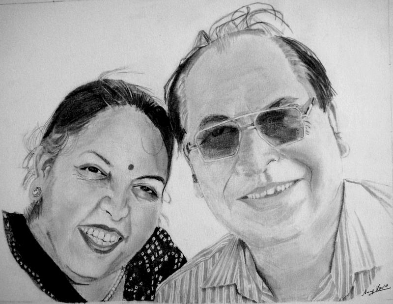 Mom and Dad by AnujKaura