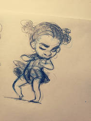 Dancing Little Girl by chorchori