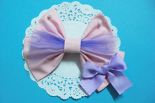 Pink x Lavender bow by Ayumui