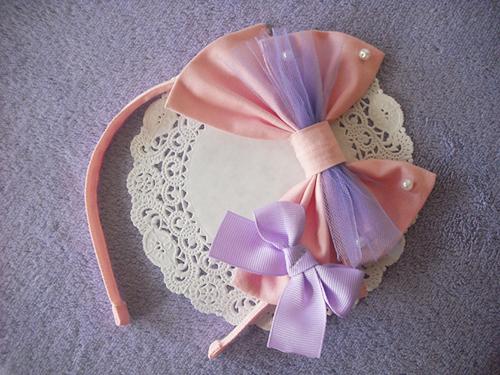 Pink x Lavender headbow by Ayumui