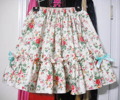 Classic Floral skirt- for sale by Ayumui