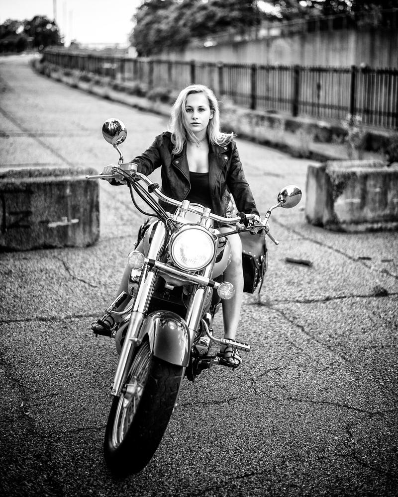Mary on a motorcycle by YoshiEggs17