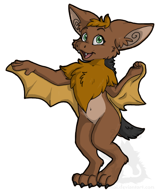 April the Hoary Bat by dipnoi