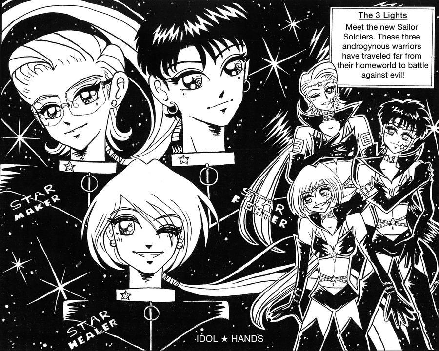 The 3 Lights -Sailor Senshi by idolhands