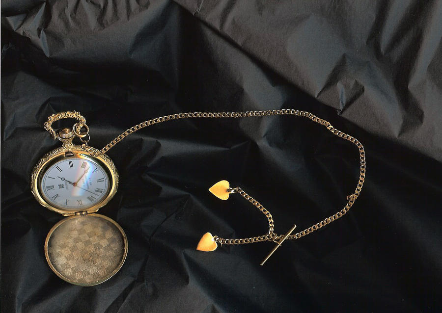Stock- Gold Pocket Watch, open by idolhands