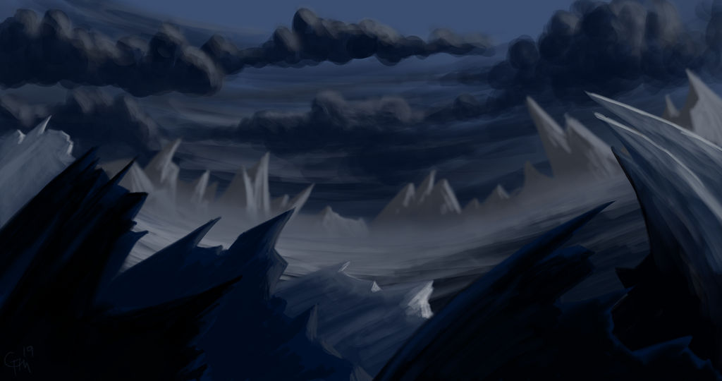 Fast drawing practice - Gelid landscape by George-Ayres