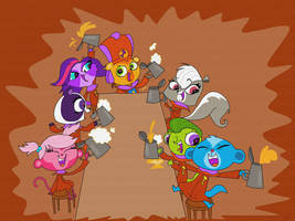 Pets stonecutters by HeinousFlame