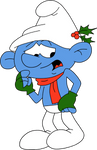 Clumsy Smurf by HeinousFlame