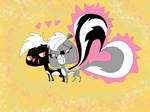 Skunks and heart