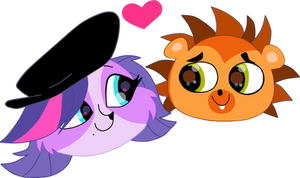 Zoe x Russell heads by HeinousFlame