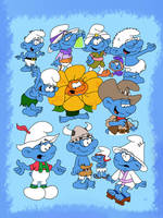 Brainy smurf drawings by HeinousFlame