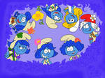 Smurfette and girls from lost village