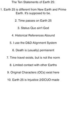 The Ten Statements of Earth 25