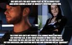 Example of Mass Effect Fandom Hypocrisy #2