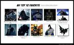 My Top 10 Versions of Batman (Bruce Wayne)