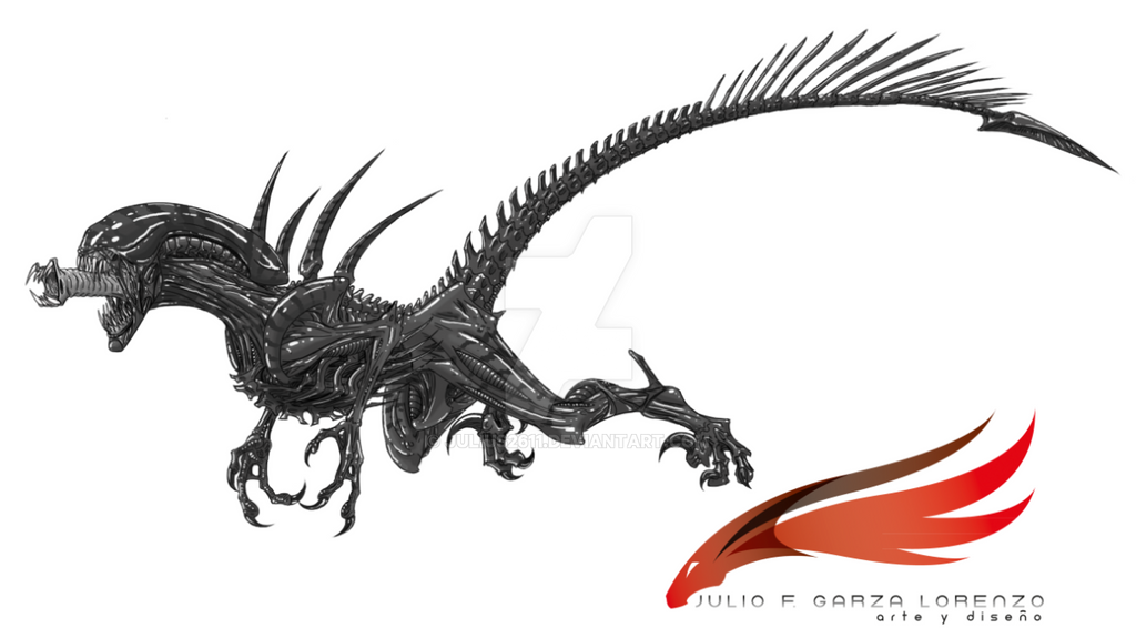 alien- raptor by juliu...