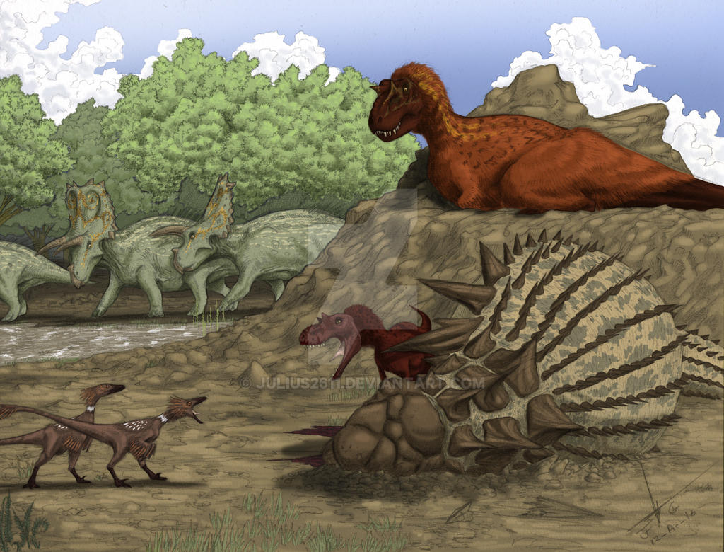 dinos in coahuila mexico color version by julius2611 on deviantart