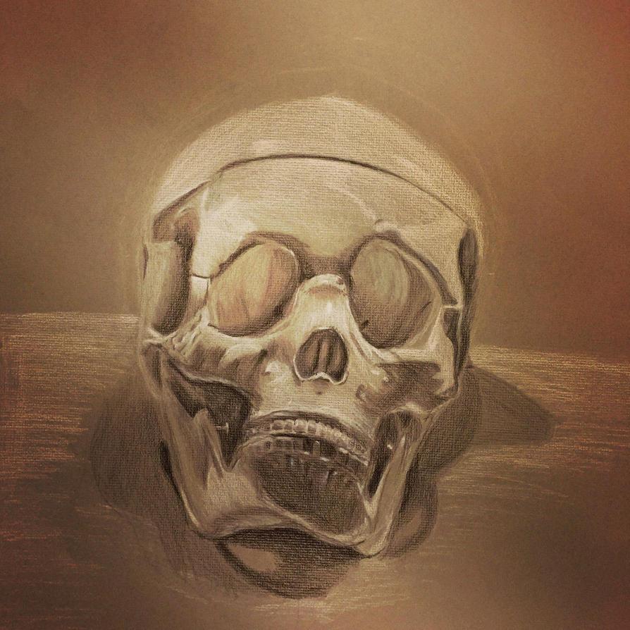 Unfinished Skull by Psychopen
