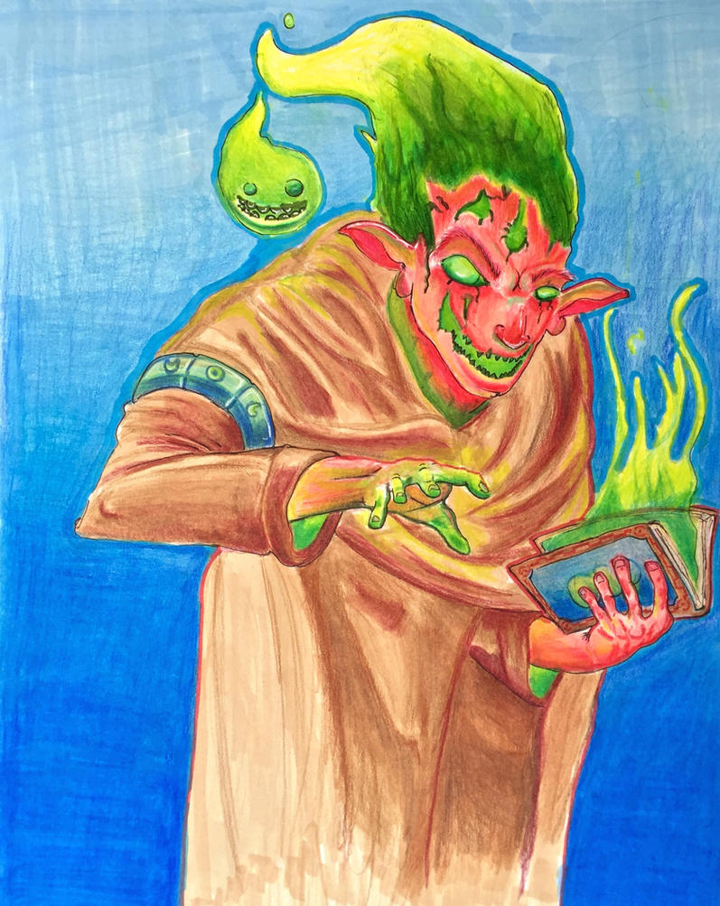 Consumed Warlock by Psychopen