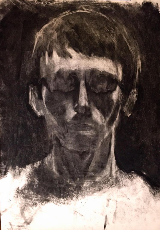 Partial Erasure Self-Portrait by Psychopen
