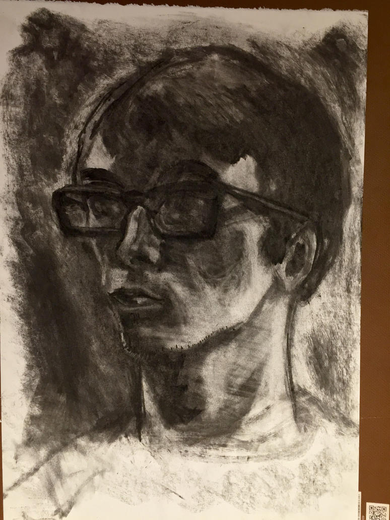 Multiple erasure self portrait 2 by Psychopen