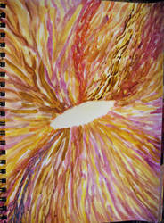 Abstract Eye, Browns and Yellows, Sketch, 2015
