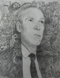 H. P. Lovecraft pencil sketch