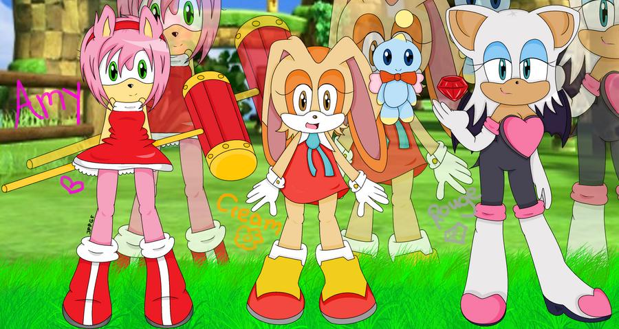 ::Sonic Girls:: by XxStrawberryQueenxX