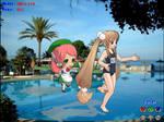 Rin and Momo - MikuMikuDance