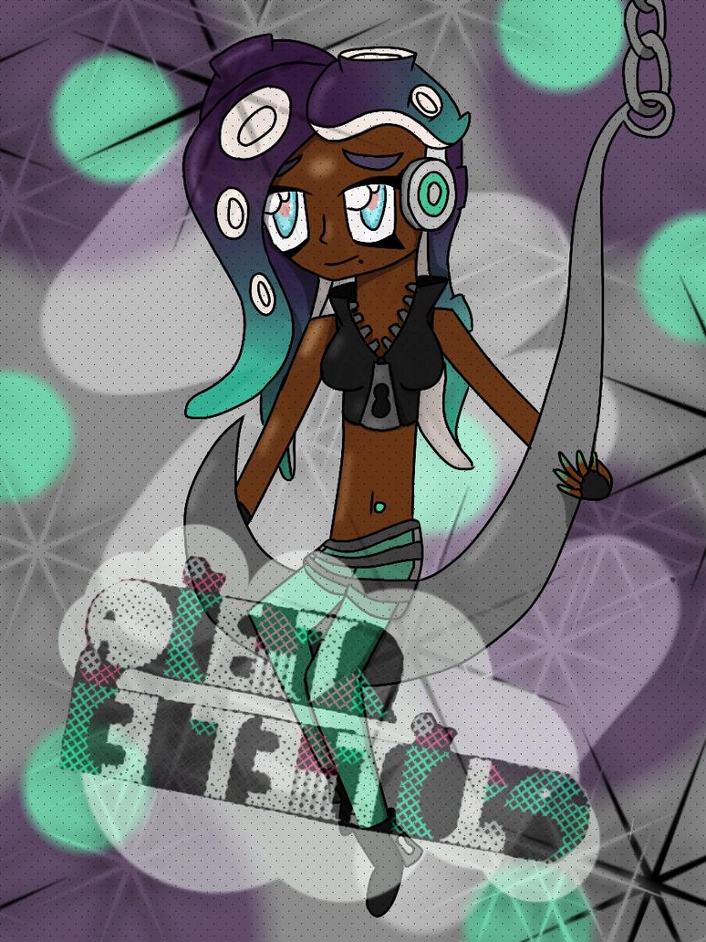Hooked! (Splatoon 2 - Marina) by LedianWithACamera