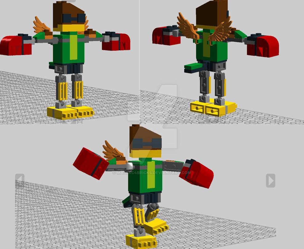 Hawkodile (LDD Rendering) from Unikitty by maniac4bricks
